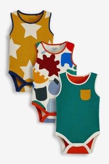 3 Pack Vest Bodysuits (0mths-3yrs)
