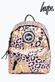 Hype. Pink Leopard Mini Backpack