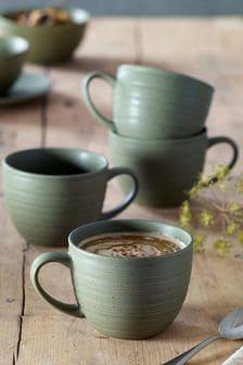 Set of 4 Cappuccino Mugs Bronx