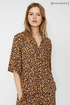 Warehouse Animal Leopard Pyjama Top