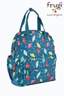 Frugi Recycled Changing Bag 3 Piece Set In Parasol Print