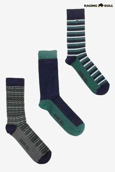 Raging Bull 森林棉質混紡襪子三對裝