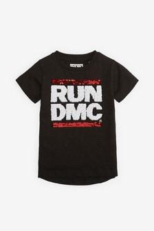 Run DMC Flippy Pailletten-T-Shirt (9Monate bis 8Jahre)