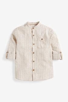 Roll Sleeve Grandad Shirt (3-16yrs)