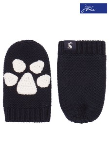 قفاز محبوك Paws Pawprint أزرق من Joules