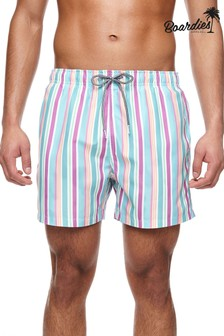 Boardies Rock Stripe Mid Length Swim Shorts