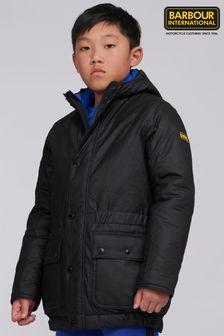 Barbour International Boys Black Terrance Wax Jacket
