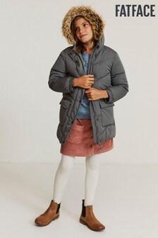 FatFace Grey Lily Longline Padded Jacket