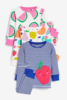 3 Pack Fruit Snuggle Pyjamas (9mths-8yrs)