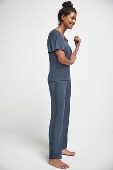 Кружевная пижама из модала