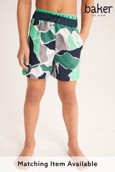 Baker by Ted Baker Badeshorts in Camouflage