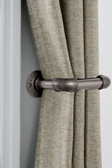 Set of 2 Gunmetal Effect Shoreditch Curtain Holdbacks