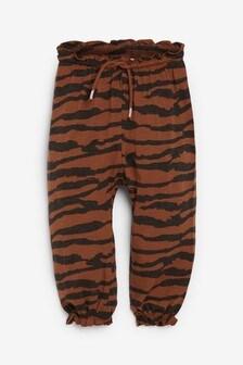 Свободные брюки со звериным принтом  (3 мес.-7 лет)