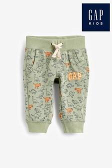 Pantaloni Gap verzi cu imprimeu