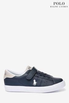 נעלי ספורט שלPoloRalph Lauren דגם Theron בצבע כחול כהה