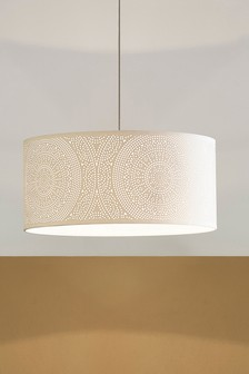 White Ariana Large Easy Fit Lamp Shade