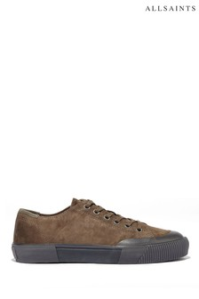 AllSaints Taupe Dumont Low Top Lace-Up Suede Athletic/Sneakers