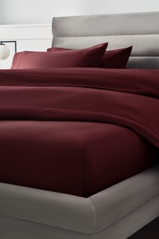 Deep Red 300 Thread Count Collection Luxe Deep Fitted 100% Cotton Sheet