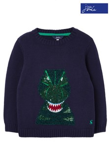 Joules Blue Burford Character Jumper