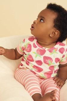 Hatley Delicious Berries Baby Kurzärmeliges Pyjama-Set aus Bio-Baumwolle