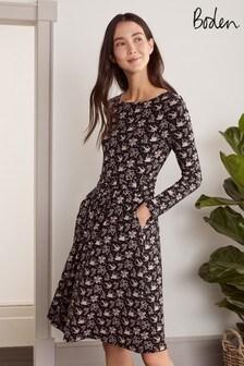 فستان أسود جيرسيه Abigail منBoden