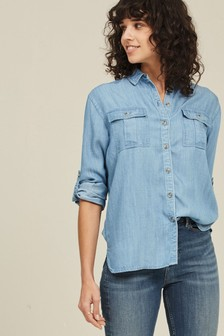 FatFace Blue Kristiana Chambray Shirt