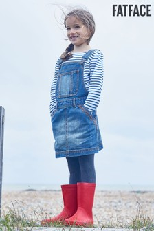 FatFace kék farmer pinafore ruha