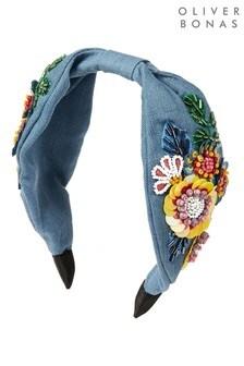 Oliver Bonas藍色野花點綴頭帶