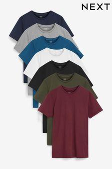 標準合身圓領T恤7件組