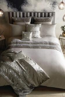 Kylie - Skyla dekbedovertrek met versiering en fluwelen inzetstuk