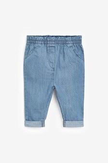 Spot Chambray Trousers (0mths-2yrs)