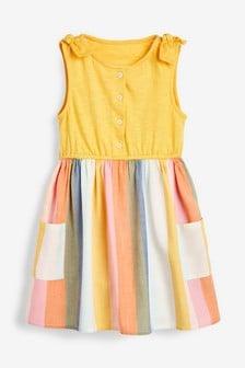 Jersey-Kleid mit Regenbogenrock (3Monate bis 7Jahre)