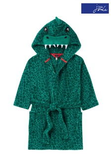 Joules Green Mark Fleece Character Dressing Gown