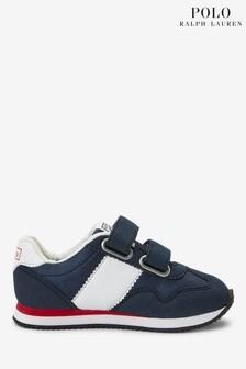 נעלי ספורט שלPoloRalph Lauren דגם Big Pony לפעוטות בצבע כחול כהה