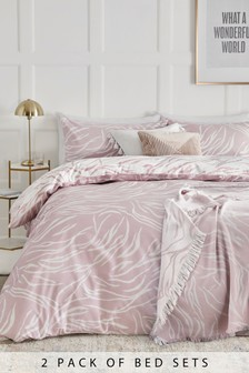 2 Pack Zebra Print Duvet Cover And Pillowcase Set (740140) | $36 - $79