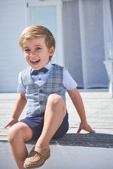 西裝外套、襯衫和短褲套裝 (3個月至7歲)