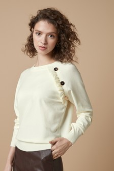 Button With Frill Jumper