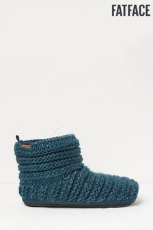 FatFace Green Laurence Knitted Boots