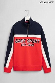 توب نصف سحاب Sport برتقالي من Gant