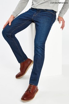 Emporio Armani J06 Slim Fit Mid Blue Jeans