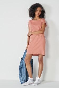 Volné tunikové šaty s rukávky