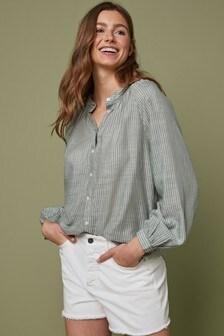 Блузка с присборенной горловиной