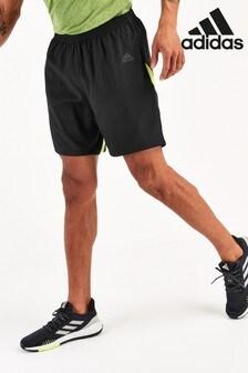 adidas Black/Green Own The Run Shorts