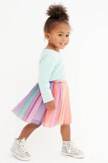 Разноцветная юбка-пачка (3 мес.-8 лет)