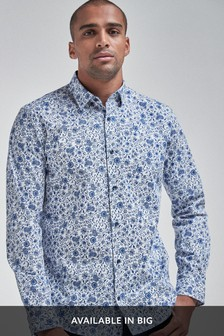 Floral Long Sleeve Regular Fit Shirt