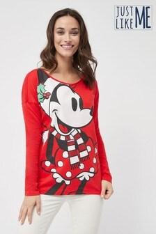 Weihnachtliches Langarmshirt Minnie Maus™ für Damen (Familienkollektion)