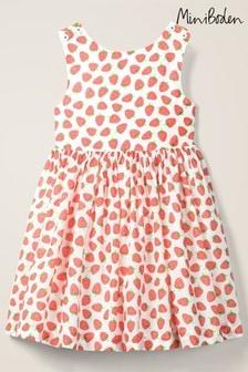 Mini Boden White Cross Back Dress