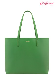 Cath Kidston Green Solid Large PVC Open Tote Bag