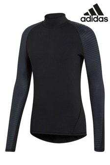 Черная футболка с длинными рукавами adidas Alphaskin