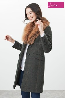 Joules Green Langley Longline Coat